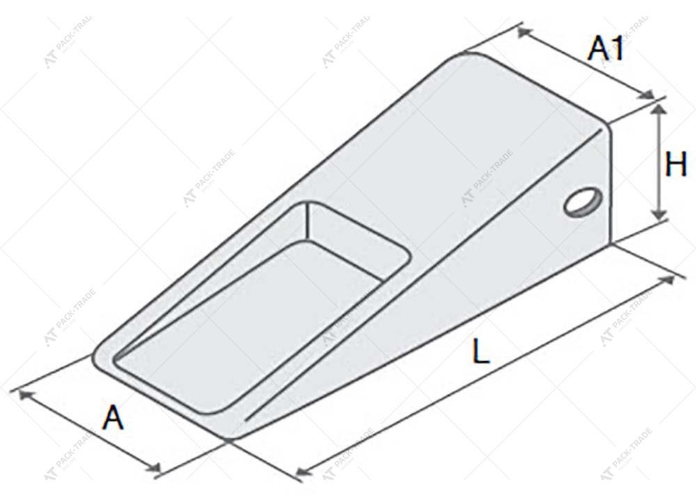 Зуб ковша (коронка усиленная) САТ J400 (8E4402) AILI
