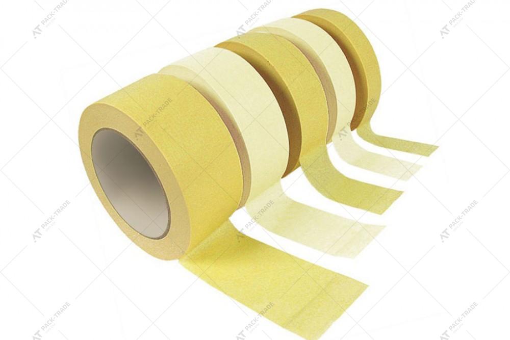 Скотч малярный 38*50м желтый