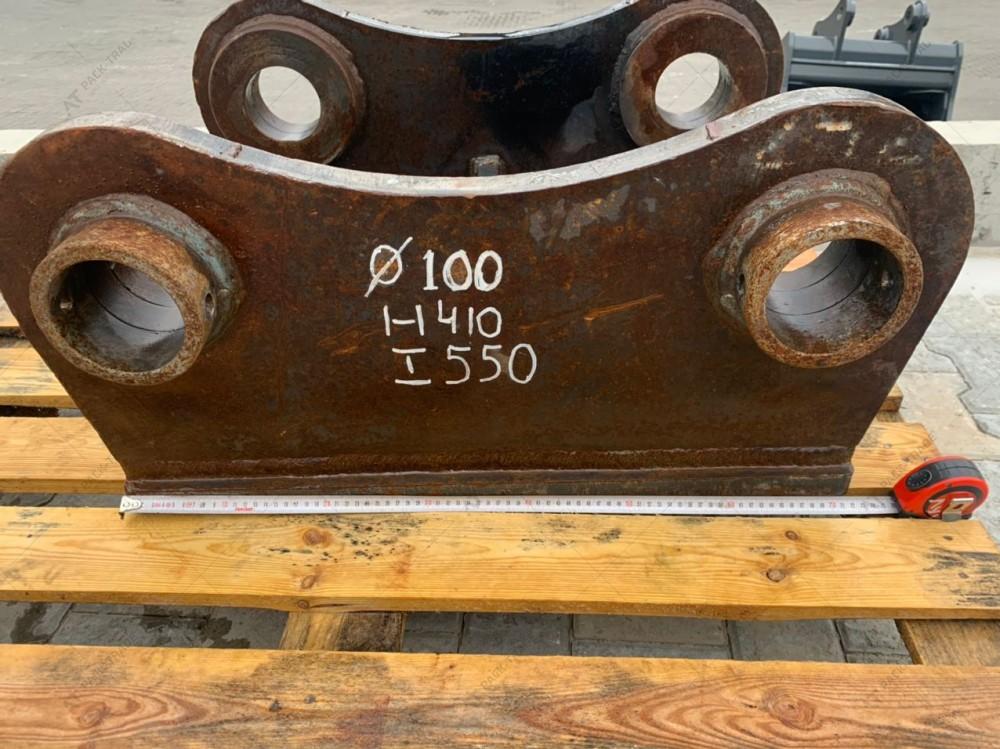 Перехідна плита на гідромолот проушини 100 мм