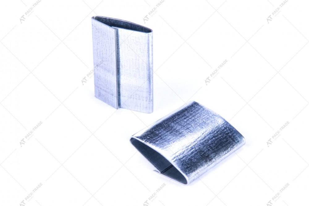 Скоба металлическая 19*45 для ленты металлической