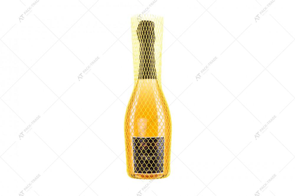 Защитная сетка для бутылок желтая 125/4