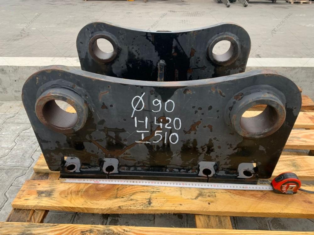 Перехідна плита на гідромолот проушини 90 мм