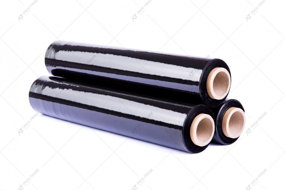 Стретч-пленка техническая 23 мкм черная 250м