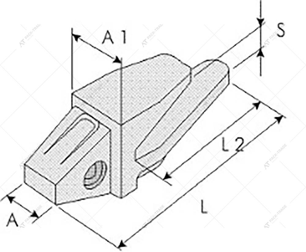 Адаптер коронки ковша CAT J460 (8E6464)